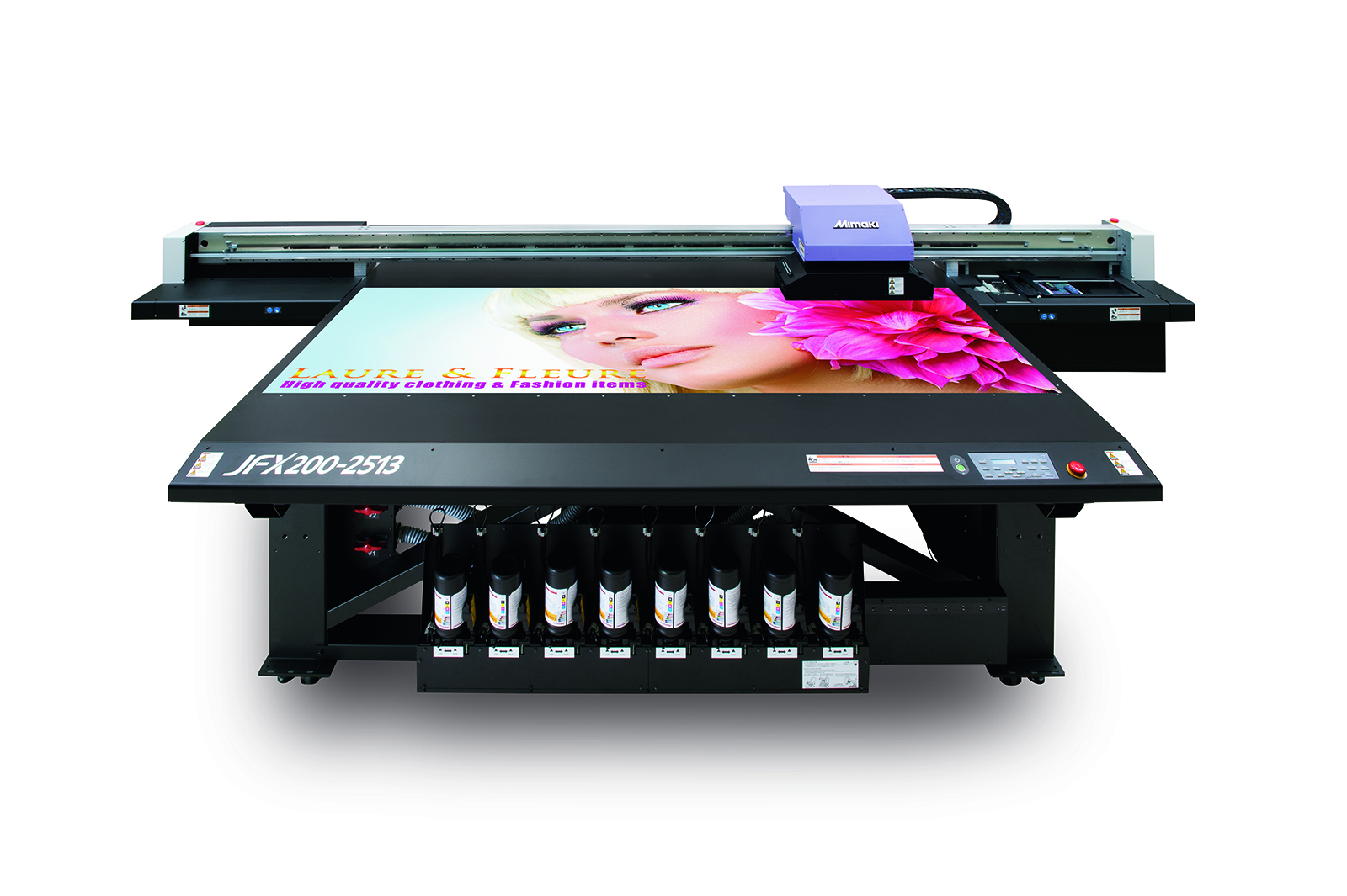 Mimaki's multi-award winning JFX200 flatbed LED UV printer will feature on Hybrid's stand at Sign & Digital UK 2015