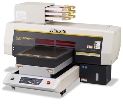 Mimaki's UJF-3042FX A3 flatbed LED UV printer benefits from a retail price of £14,995 this autumn.