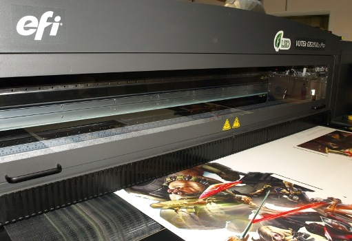 Nene Packaging's new EFI VUTEk LED GS2000 LX Pro in action