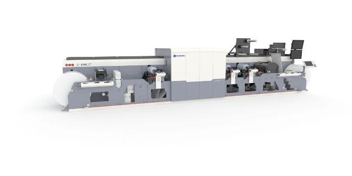MPS EF SYMJET narrow web flexo digital ink jet hybrid press
