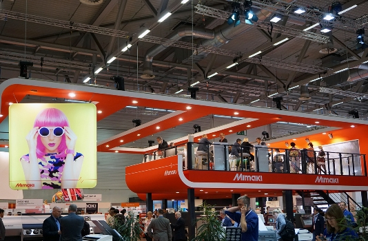 Mimaki's stand at FESPA attracted a large number of visitors