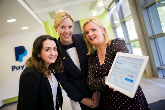 (L to R) Hazel Mitchell, Site Director, eBay; Helena Morgan, Corporate Development Manager, Children's Fund for Health; and Louise Phelan, Vice President of Global Operations, Europe, Middle East and Africa, PayPal