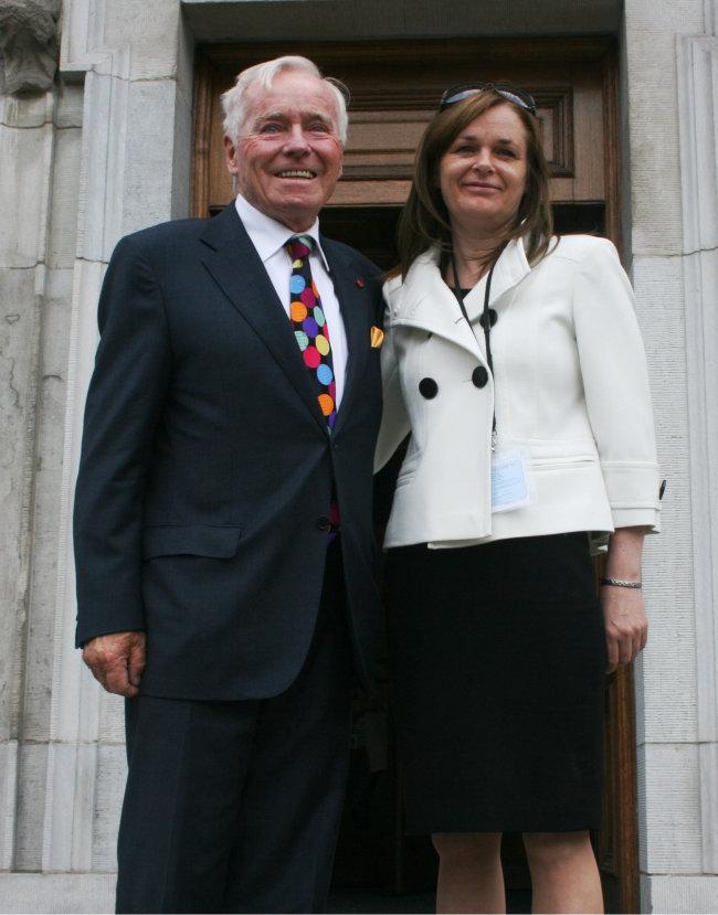 Senator Feargal Quinn and Councillor Lorna Nolan