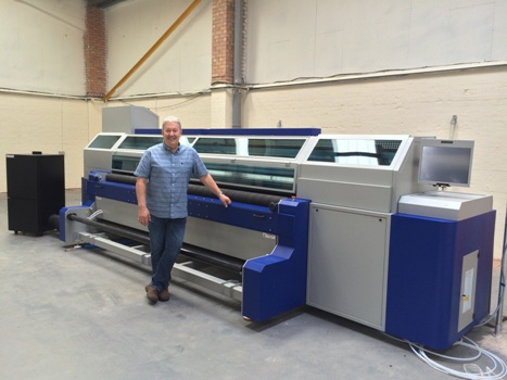 Colour Graphics director Steve Birch with the company's new MTEX 5032Pro direct-to-textile printer