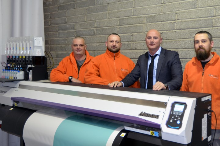 IQ Group's print team (from L to R): Andrew Zugaj, Artur Szubert, Gary Upton and Sean Morgan.