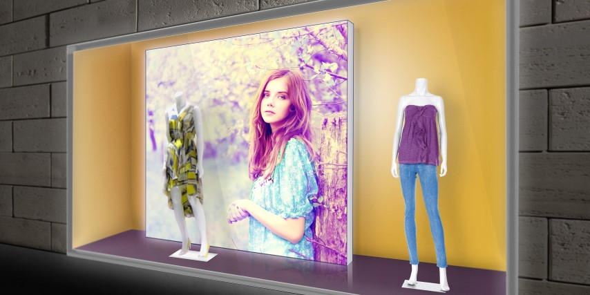 Fabrics from Soyang Europe's new range of HP Latex certified materials are suitable for retail and soft signage applications