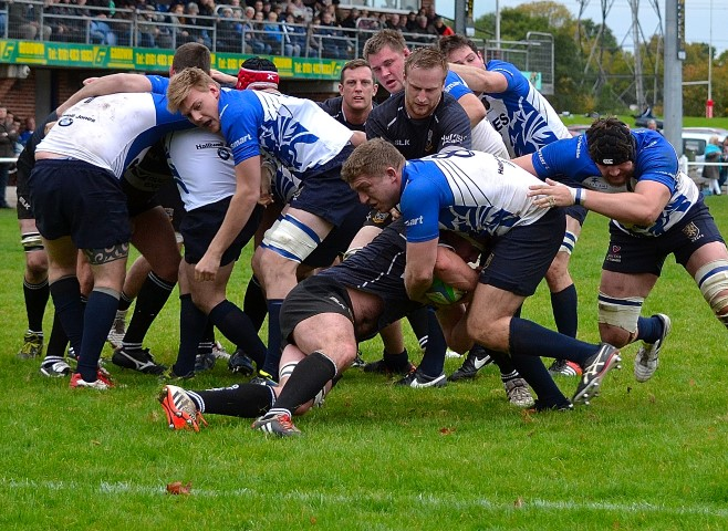 Macclesfield Rugby club's players sport team strips manufactured by O'Neills, using Mimaki print technology and bearing sponsor R A Smart's brand.