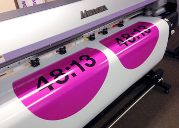 Drum skin for Kasabian printing on Brooklyn Graphics' Mimaki CJV30