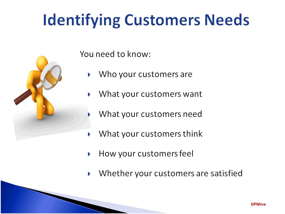 Identified Customers Needs
