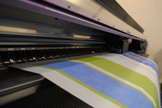 Your Print Partner's new Mimaki JV5-320DS dye sublimation printer in action