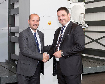 Aurelio Maruggi, Vice President and General Manager, Inkjet High-speed Production Solutions Division, HP and Christoph Müller, executive vice president, Web Press Business Unit, KBA