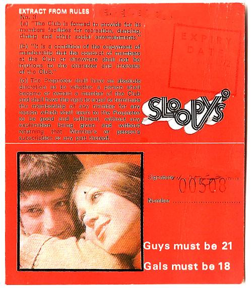 sloopys membership back